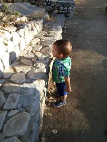 Diego exploring